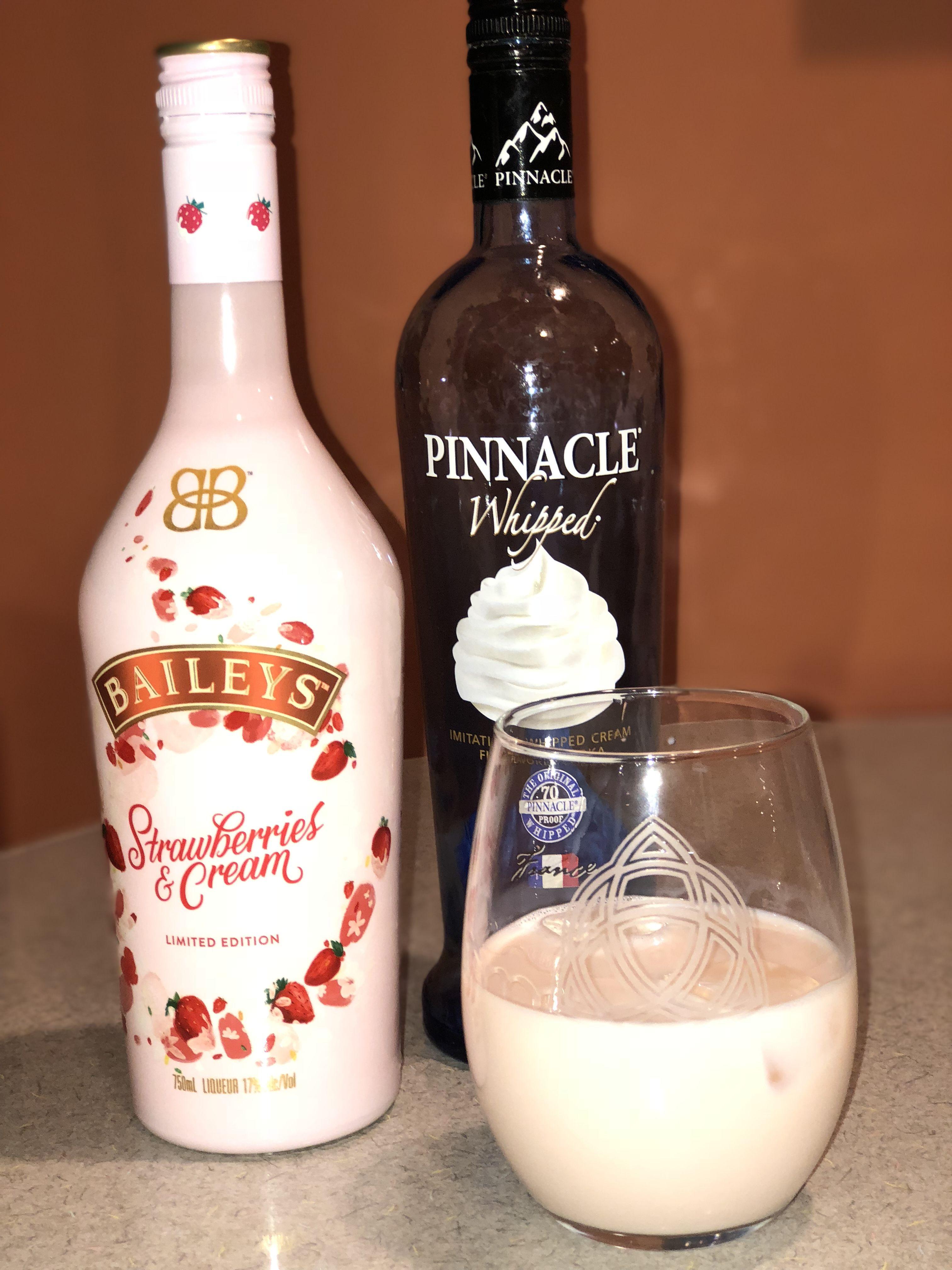Strawberry Milkshake Martini 3oz Strawberries and Cream Bailey's, 1oz  whipped or vanilla Vodka mix with ice s… | Baileys drinks, Boozy drinks, Alcohol  drink recipes