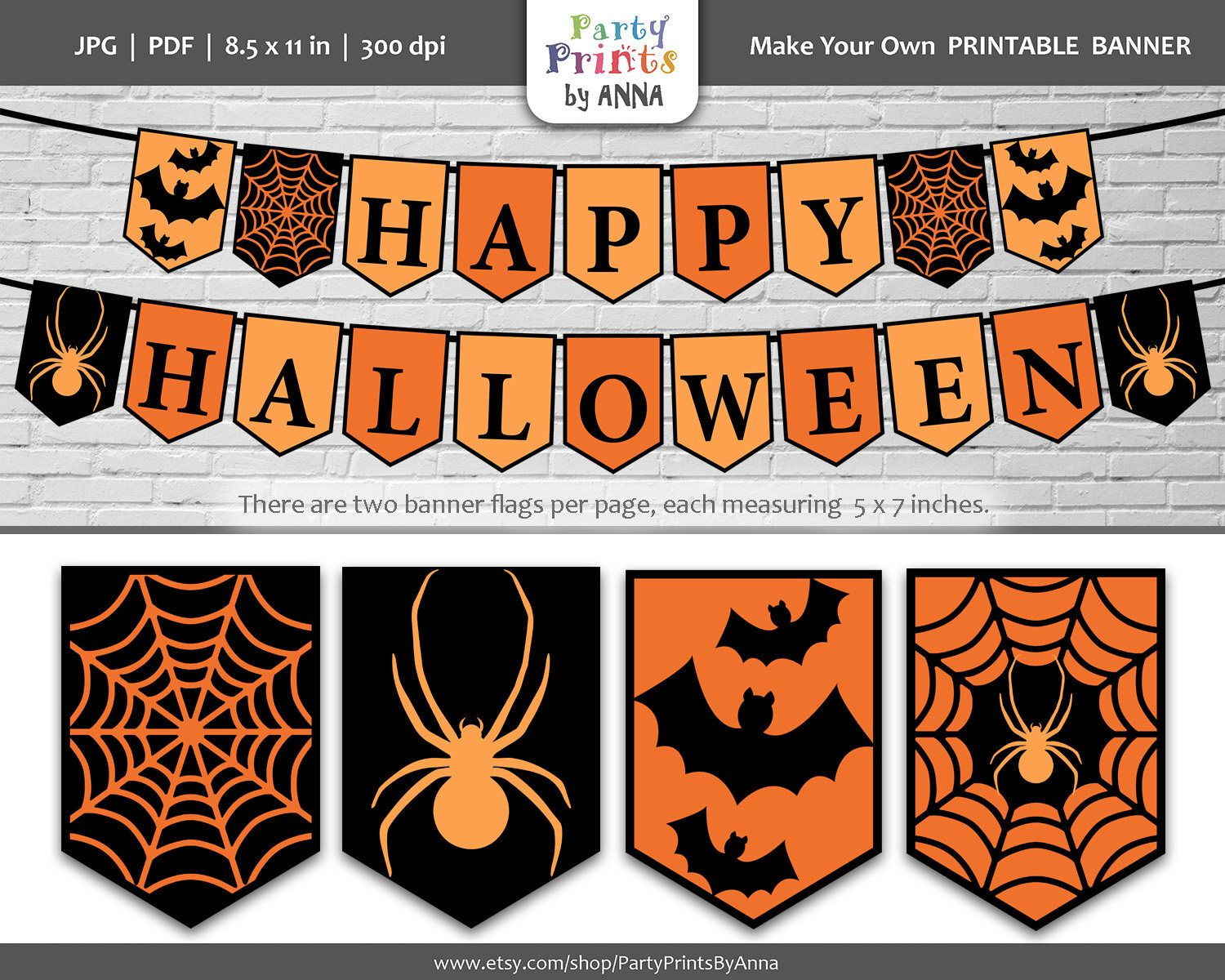 It is a photo of Soft Happy Halloween Banner Printable