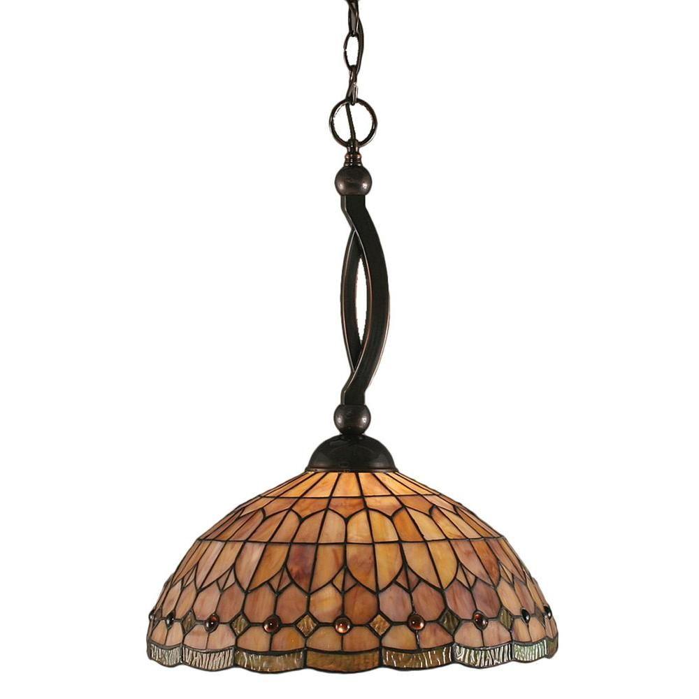 Filament design concord light black copper pendant with rosetta