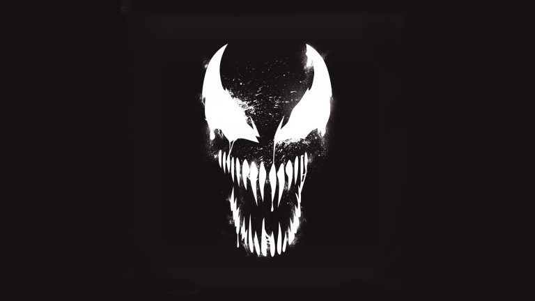 Venom Marvel Artistic Logo With Dark Background Background Hd