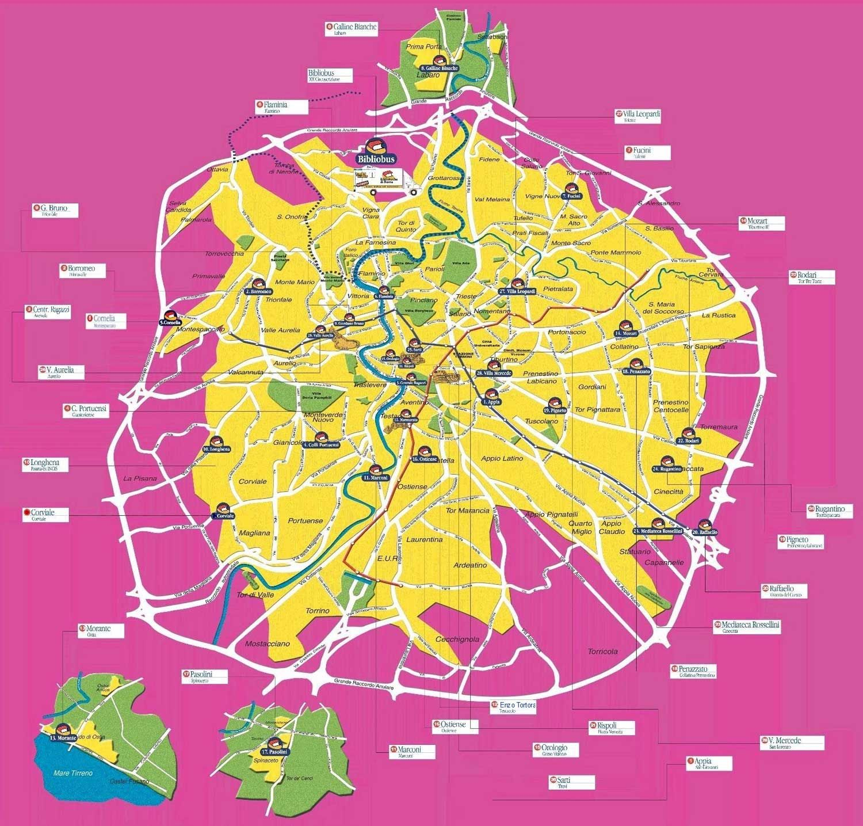 Rome City Center Map | Rome city, Map, Rome