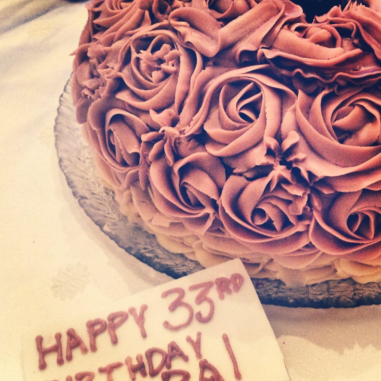 Rose cake for Lara's 33rd