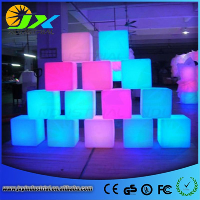 Led Furniture Chair Magic Dice Waterproof LED Remote Controll Square Cube  Lumineux Light For Home/bar/nightclub/wedding