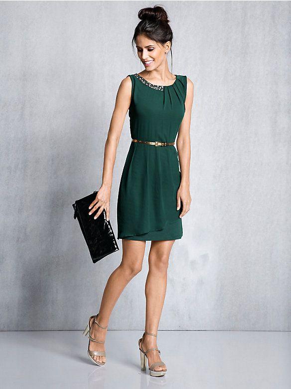 Festliche kleider kurz grun