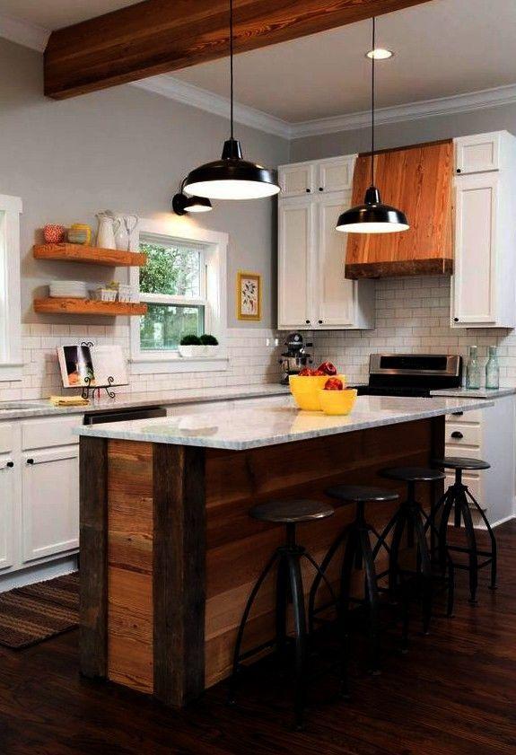 DIY: 10 ideas of kitchen islands to manufacture #kitchens ...