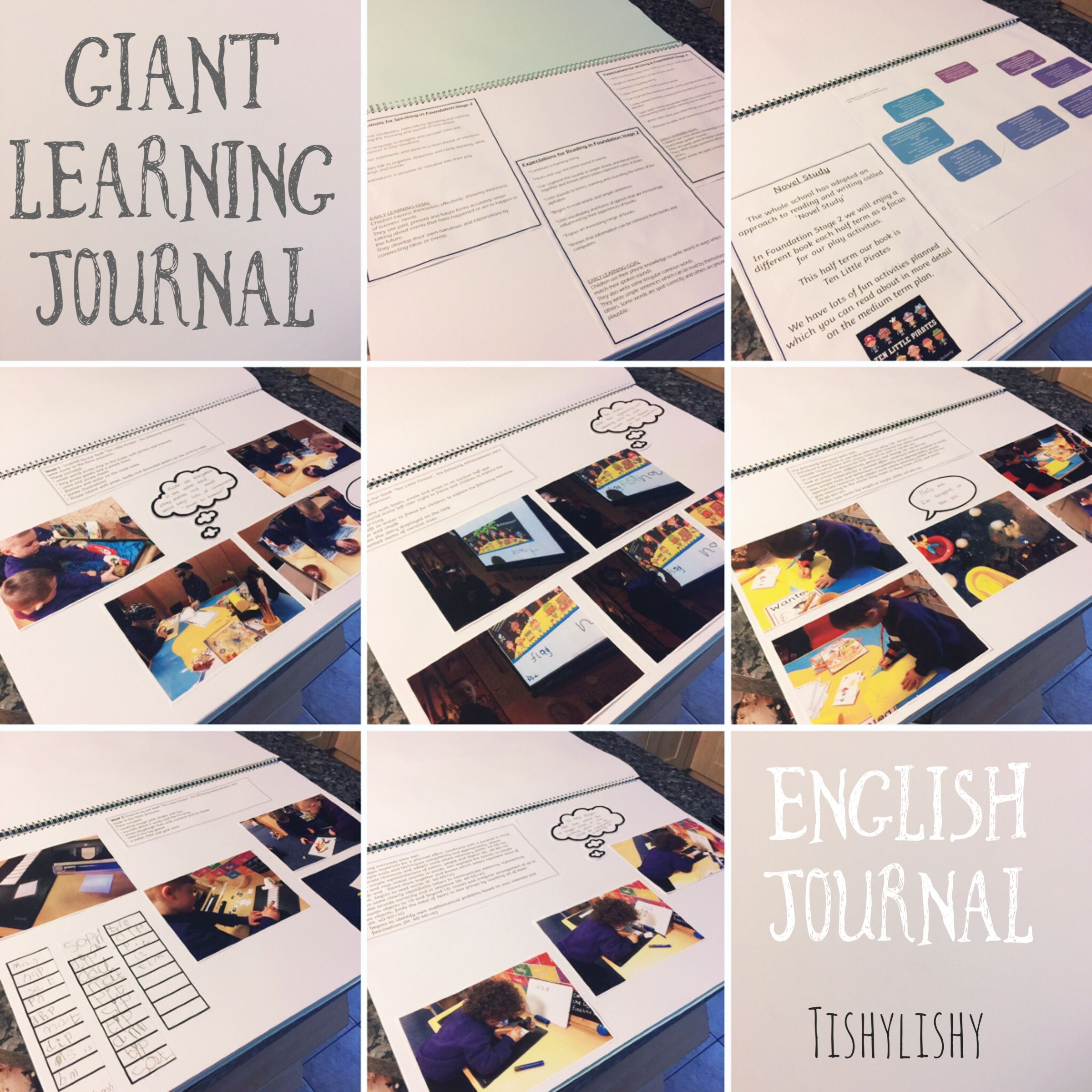 "my english ""giant"" learning journal i display on my learning"
