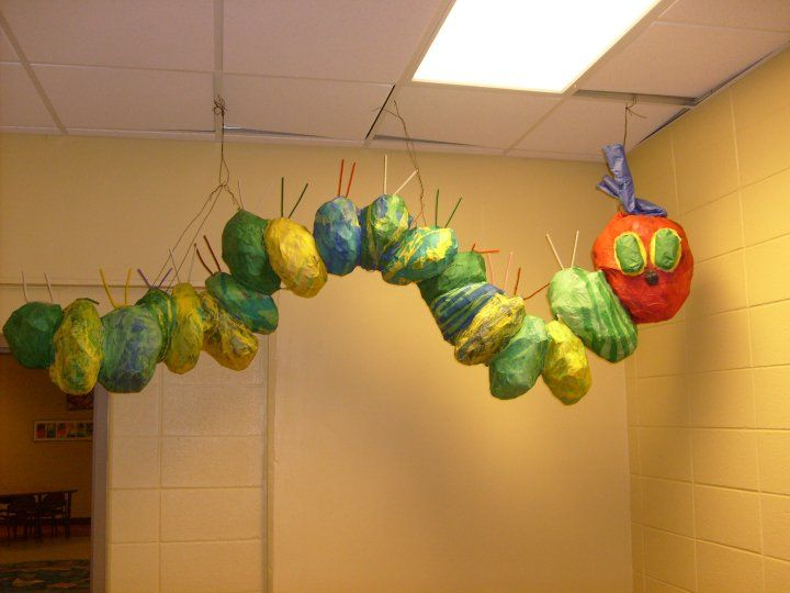 Giant Paper Mache Caterpillar Made With A Lot Of Help