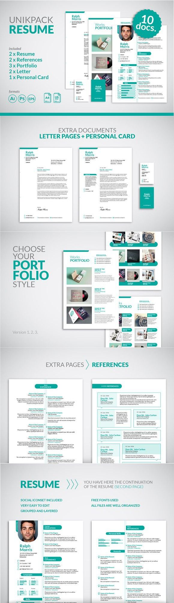 Professional Resume / CV Template Cv template