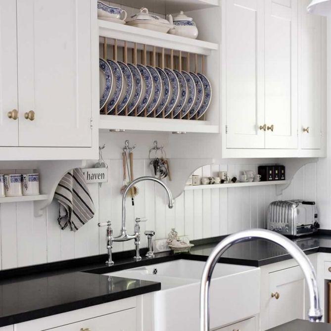 Kvanum Kitchens White Kitchen Cabinets Glossy Black Quartz