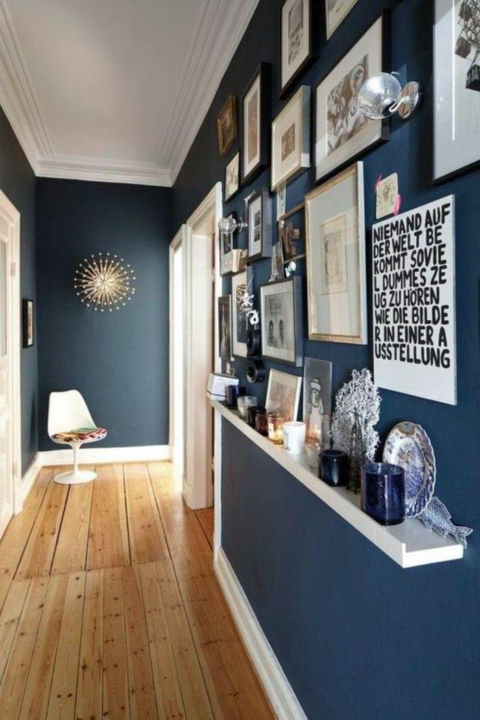 Flur Einrichten Farbgestaltung Flur Flur In Blau Mit Boden Aus Holz Fotos Sruche