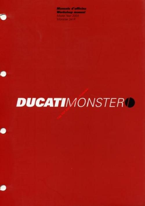 Ducati S4r Monster 2003 2005 Service Workshop Manual Ducati S4r Ducati Procedural Writing