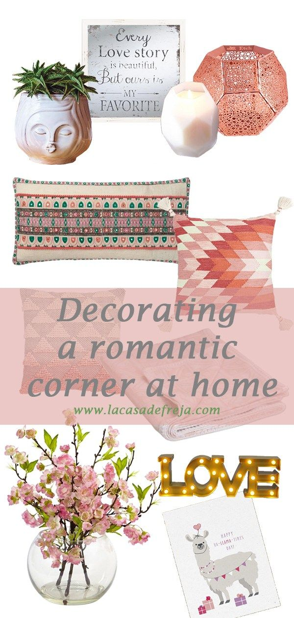 Decorating a romantic corner at home for Valentines Day #love #lovelydecor #lovedecor