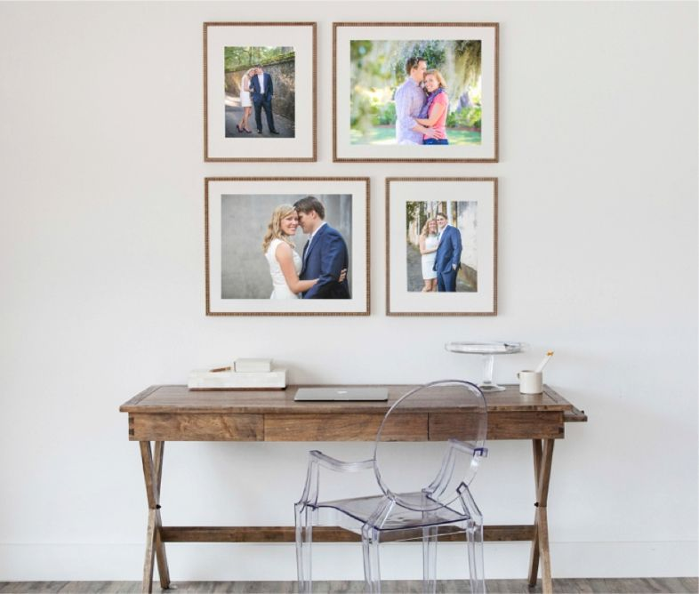 How To Display Your Wedding + Engagement Photos // Custom