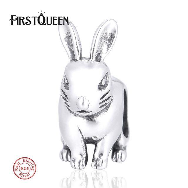 [Sponsored]Sitting Rabbit Charm Bracelet Bead - Sterling Silver 925 oNlDj
