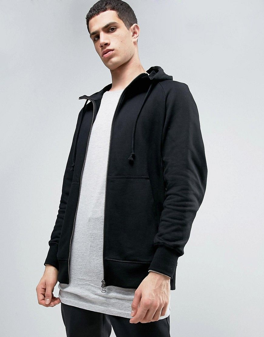 X By O Zip up Hoodie In Black Bq3092