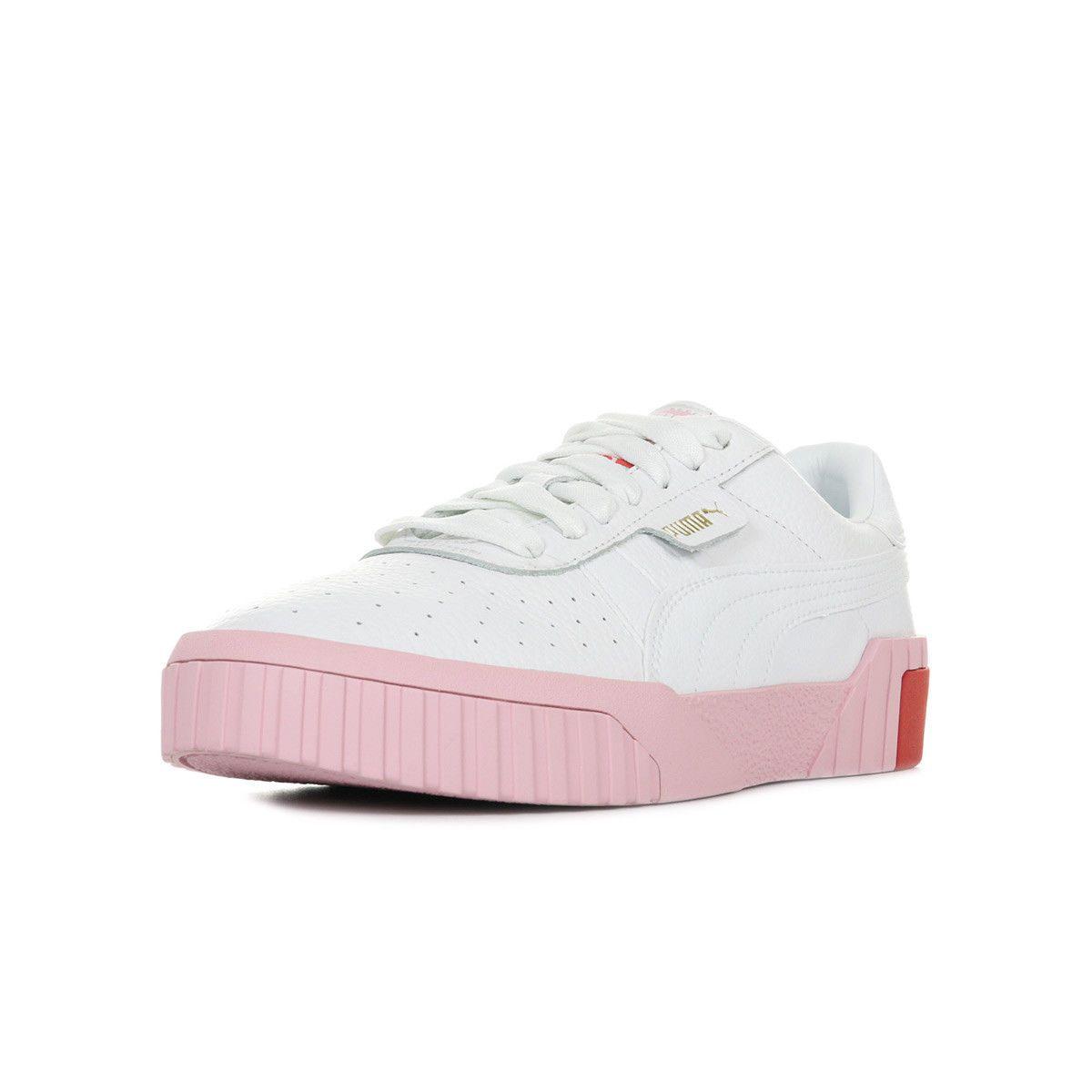 chaussure puma femme cuir blanc