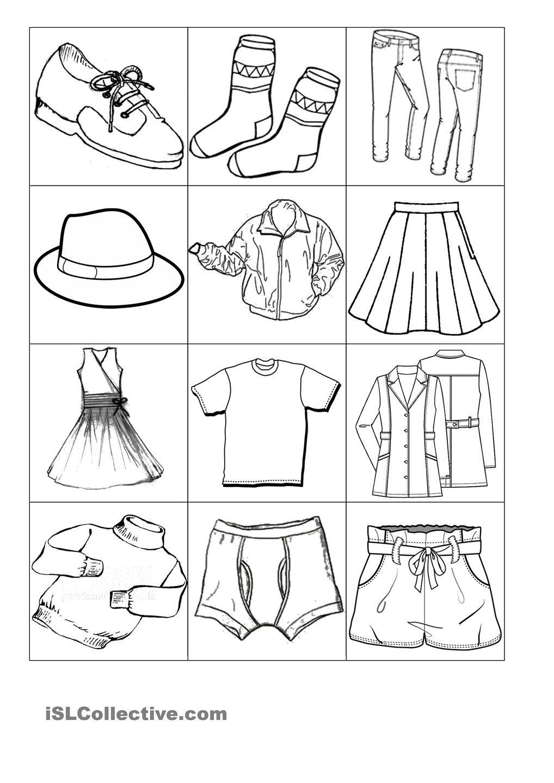 printables clothes Google zoeken Arbeitsblätter