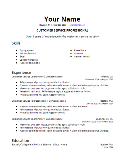 Basic Resume Templates Free In 2021 Resume Skills Student Resume Template Basic Resume