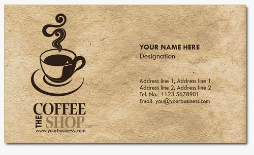 4 Business Card Templates for Coffee Shops Art art Card