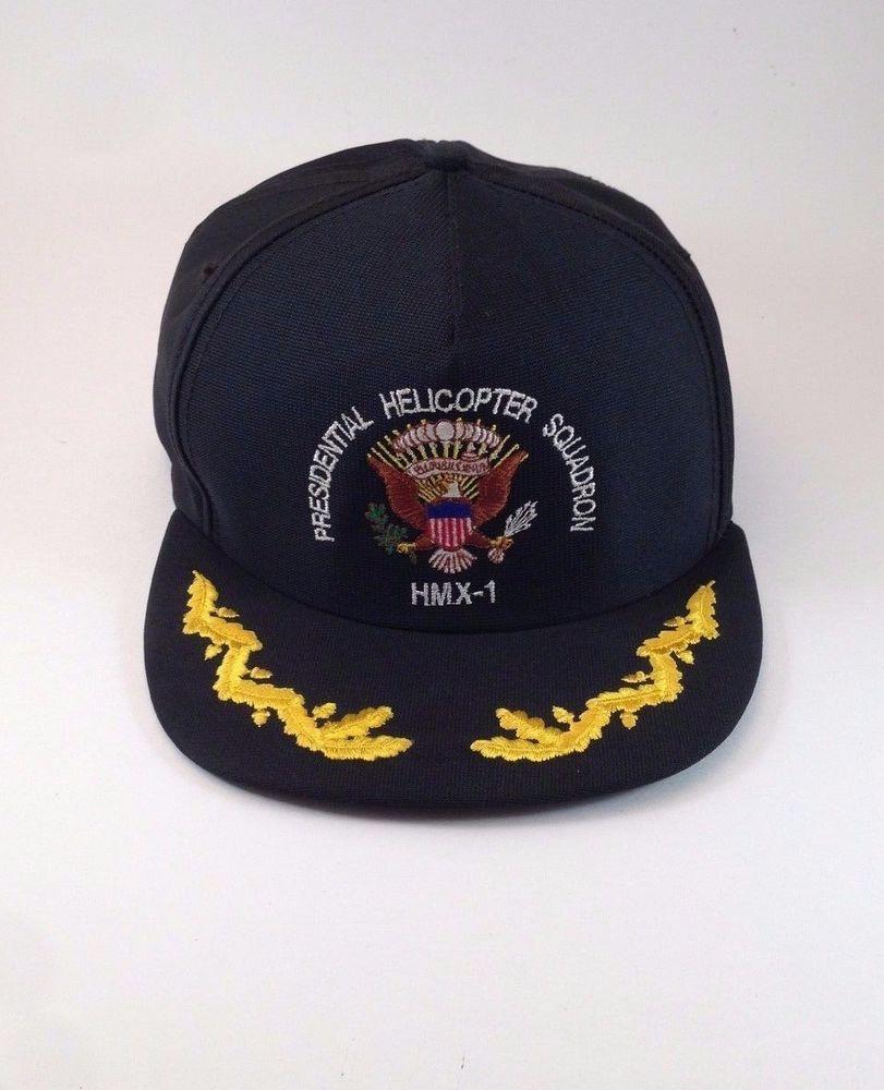 f8afce52f74 Presidential Helicopter Squadron HMX-1 Black Cap Hat One Size Trucker  Military  ImpressionsofVirginiaInc  BaseballCap
