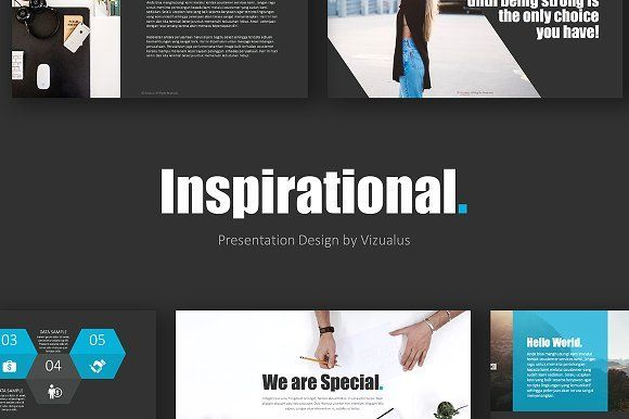 inspirational powerpoint template by vizualus on creativemarket