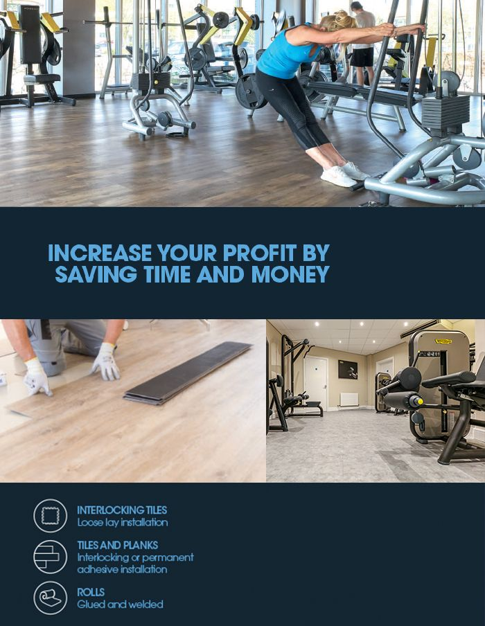 Our long lasting solutions can be installed with minimum disturbance over existing floors and will withstand a variety of #Fitness equipment!
