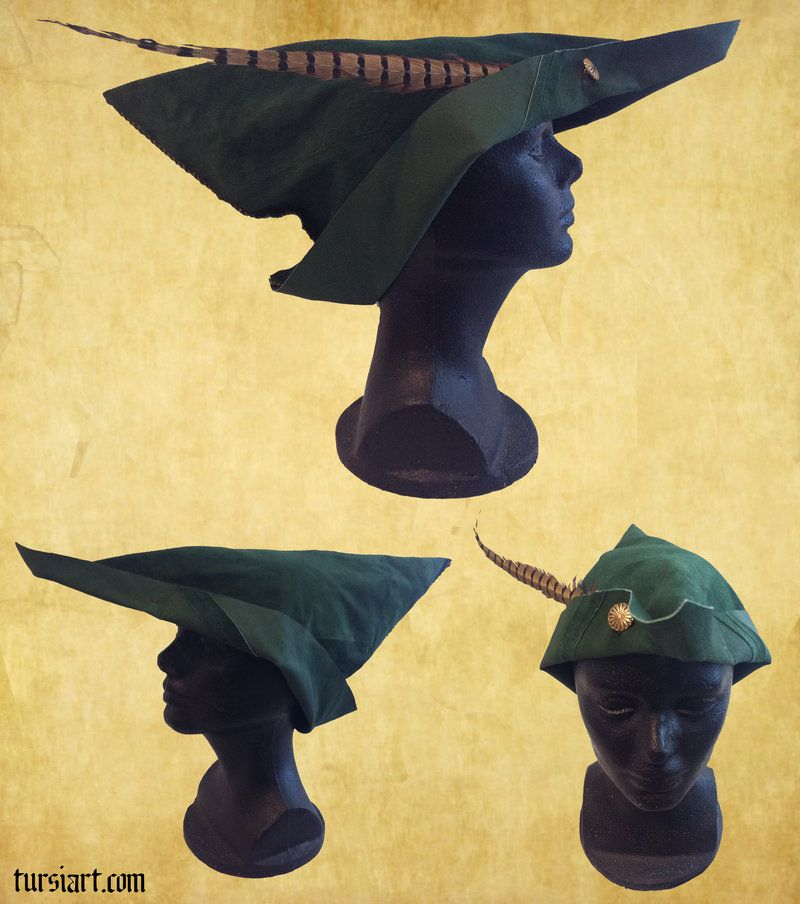 Medieval Woodsman Robin Hood style hat 2 by tursiart.deviantart.com on   deviantART 1736999ab6c
