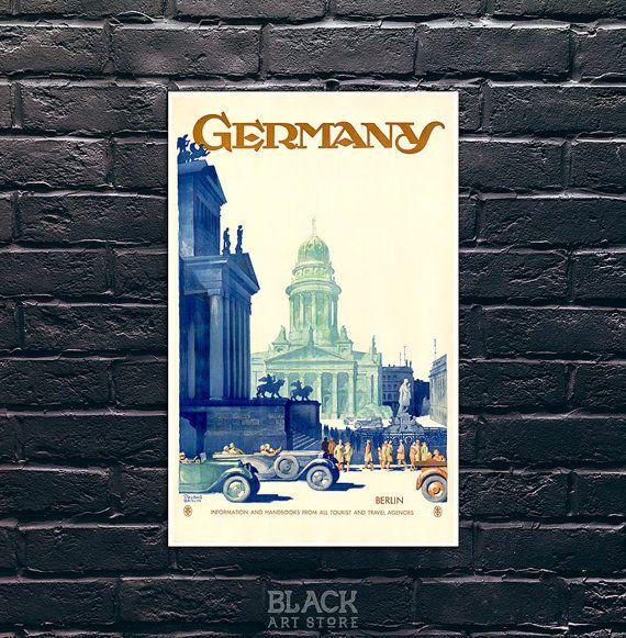 Germany vintage travel poster germany travel print quality poster vintage travel poster print
