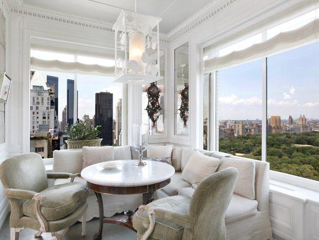 two-bedroom apartment at Central Park Ritz-Carlton corner windows