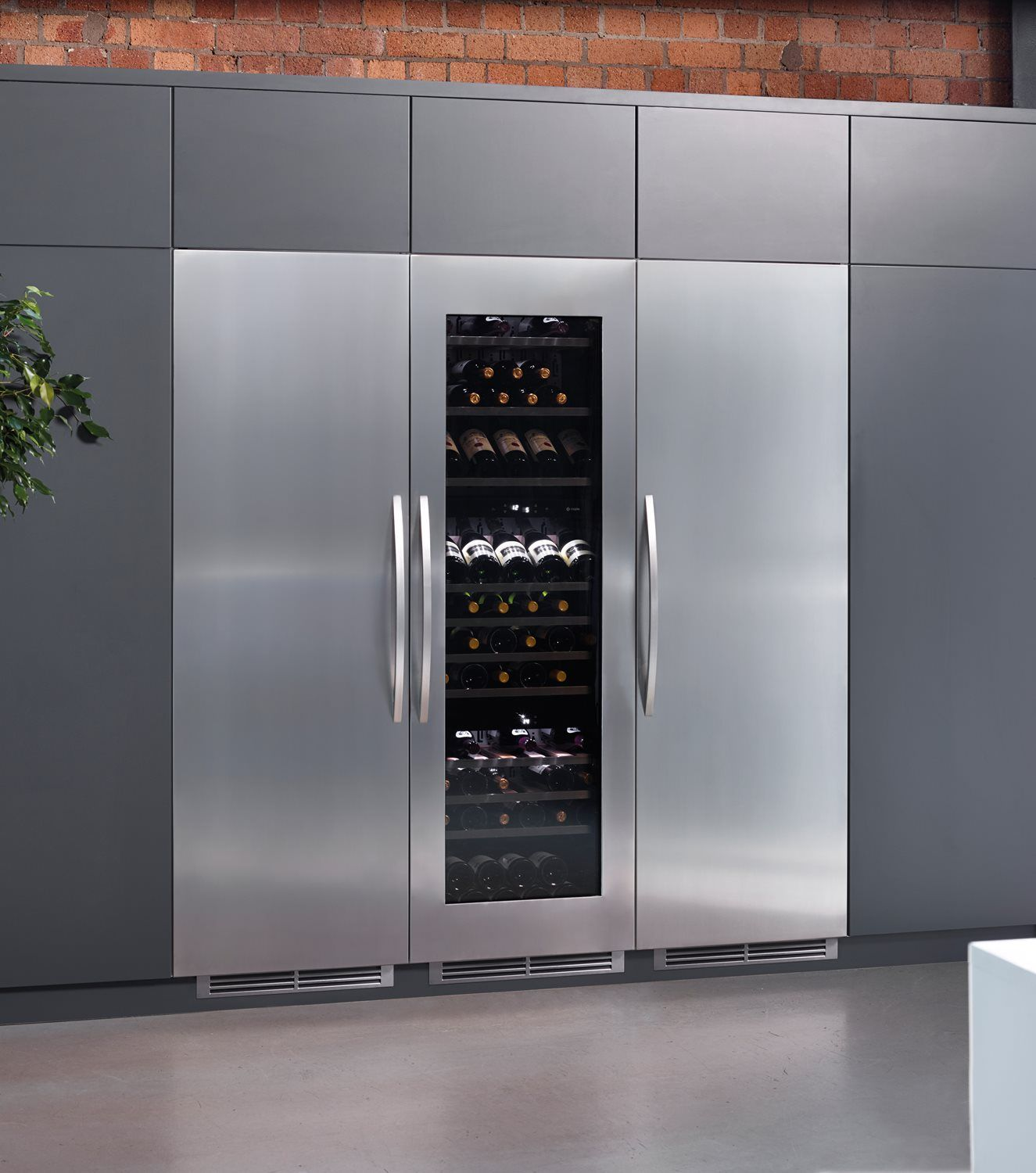Caple Wc179 Ril1795 Rif1795 Integrated Wine Cooler Fridge And Freezer Pack Comprises Of Caple W Built In Fridge Freezer Glass Shelves Kitchen Glass Shelves