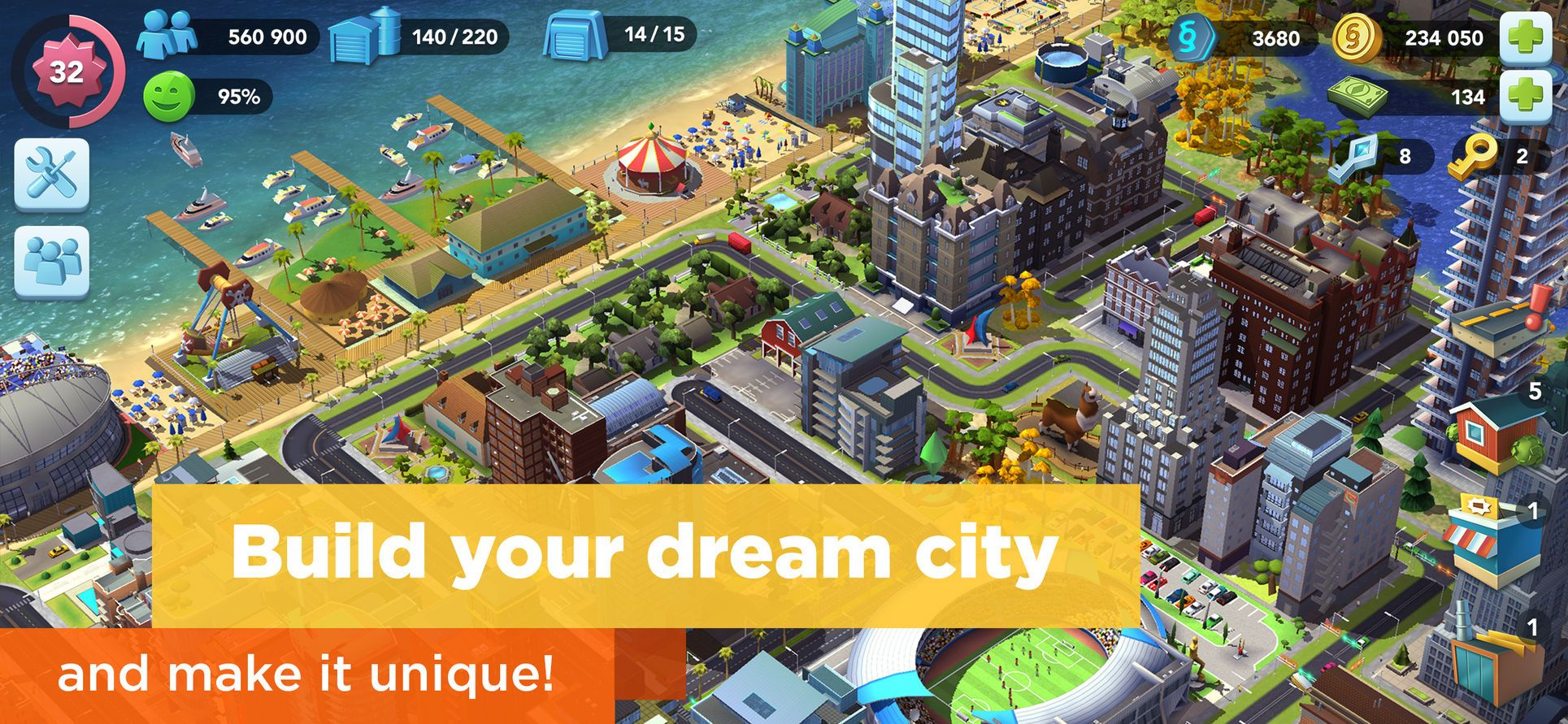 SimCity BuildIt #Strategy#Simulation#apps#ios