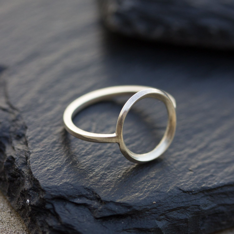 Circle ring - sterling silver, minimalist, full circle ring, karma ring, midi ring