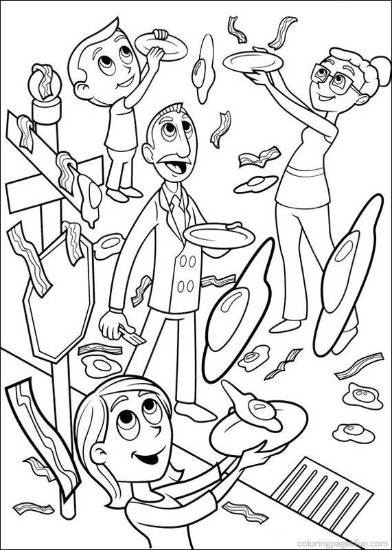 Cloudy with a Chance of Meatballs Coloring Pages 26 | Projects to ...