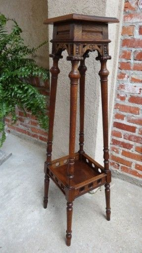 display stand wood china Antique style wooden carved small base