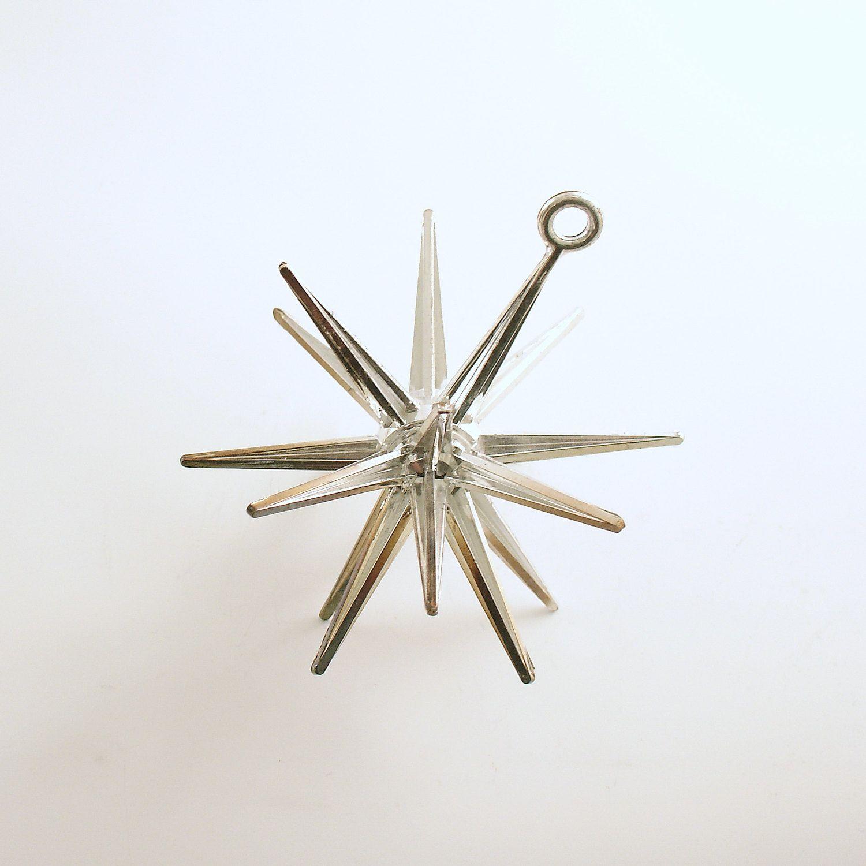 Sputnik christmas ornaments - Vintage Christmas Ornament Sputnik Star Mid Century Eames Era