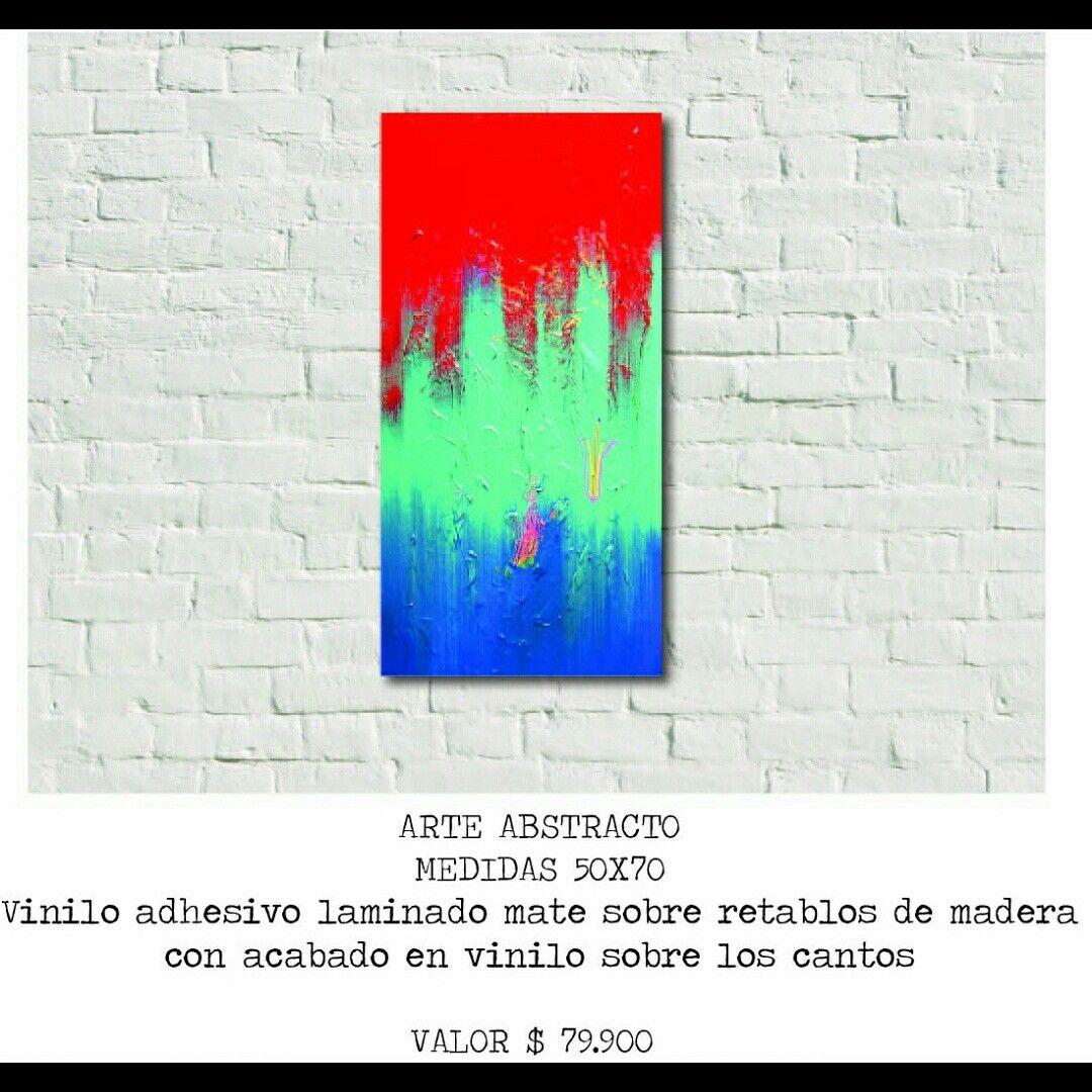 Cuadros arte abstracto vinilo adhesivo
