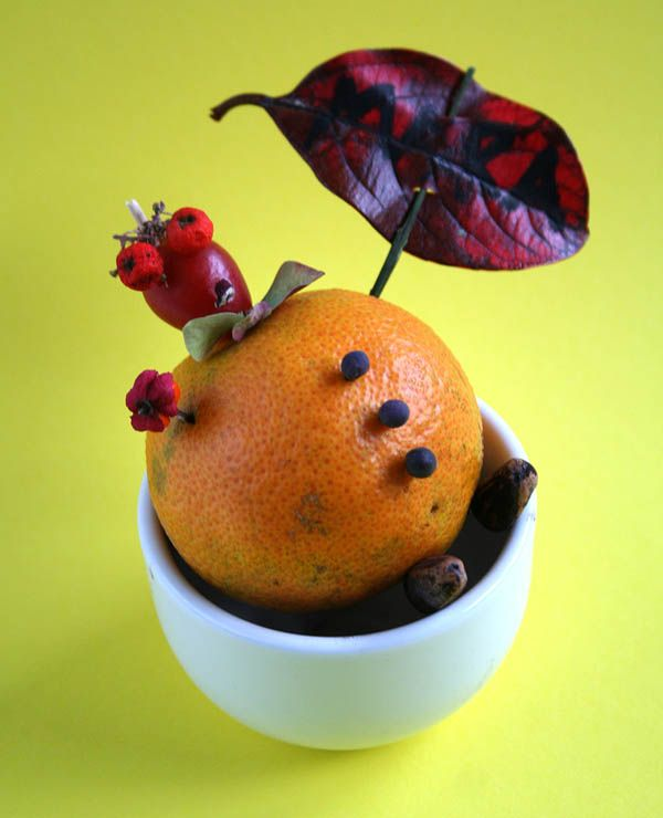 creare insieme con i + piccoli: Autunno -  - Create with your kids - Autums funny decorations with fruits and leaves