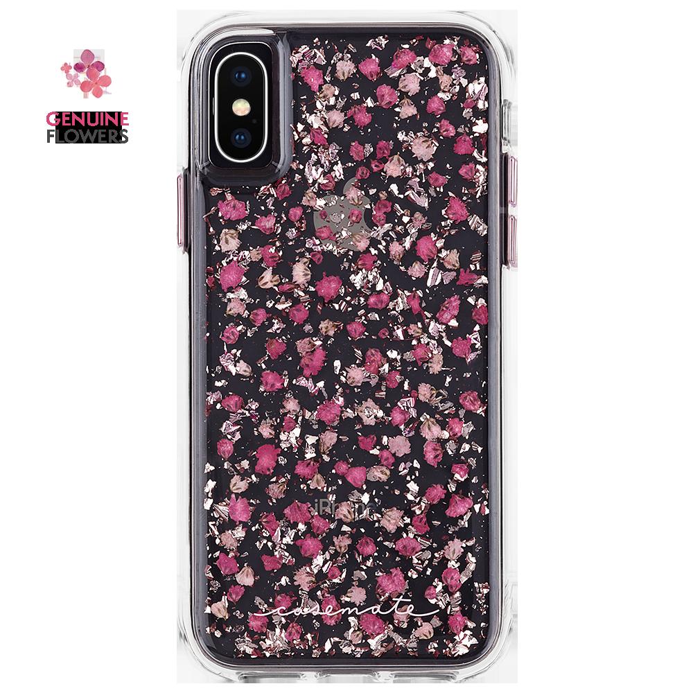 Iphone X Ditsy Petals Pink Karat Petals Back Pink Phone Cases Pink Cases Flower Iphone Cases