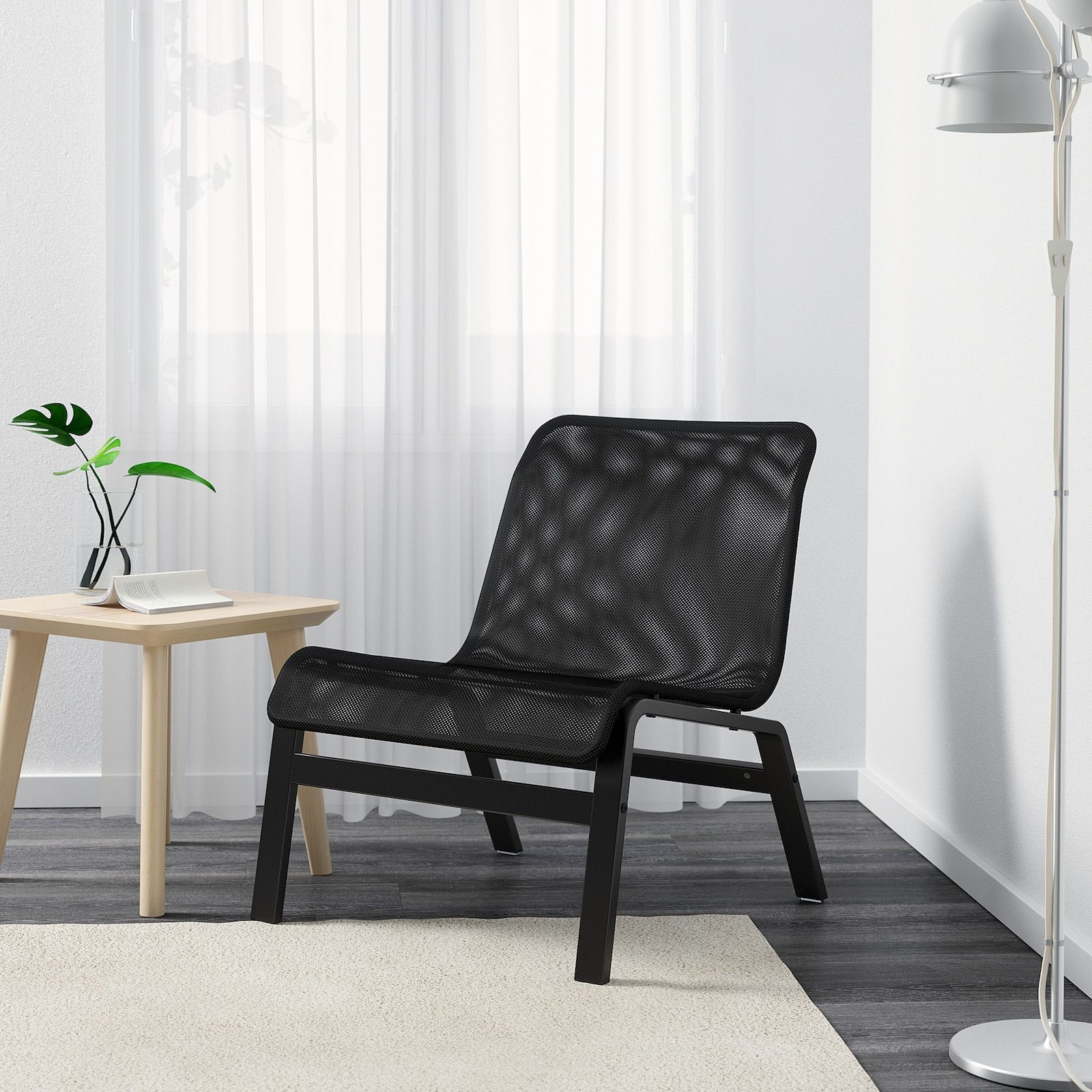 Nolmyra Black Black Easy Chair Ikea In 2020 Scandinavian Furniture Design Accent Chairs For Living Room Black Lounge Chair