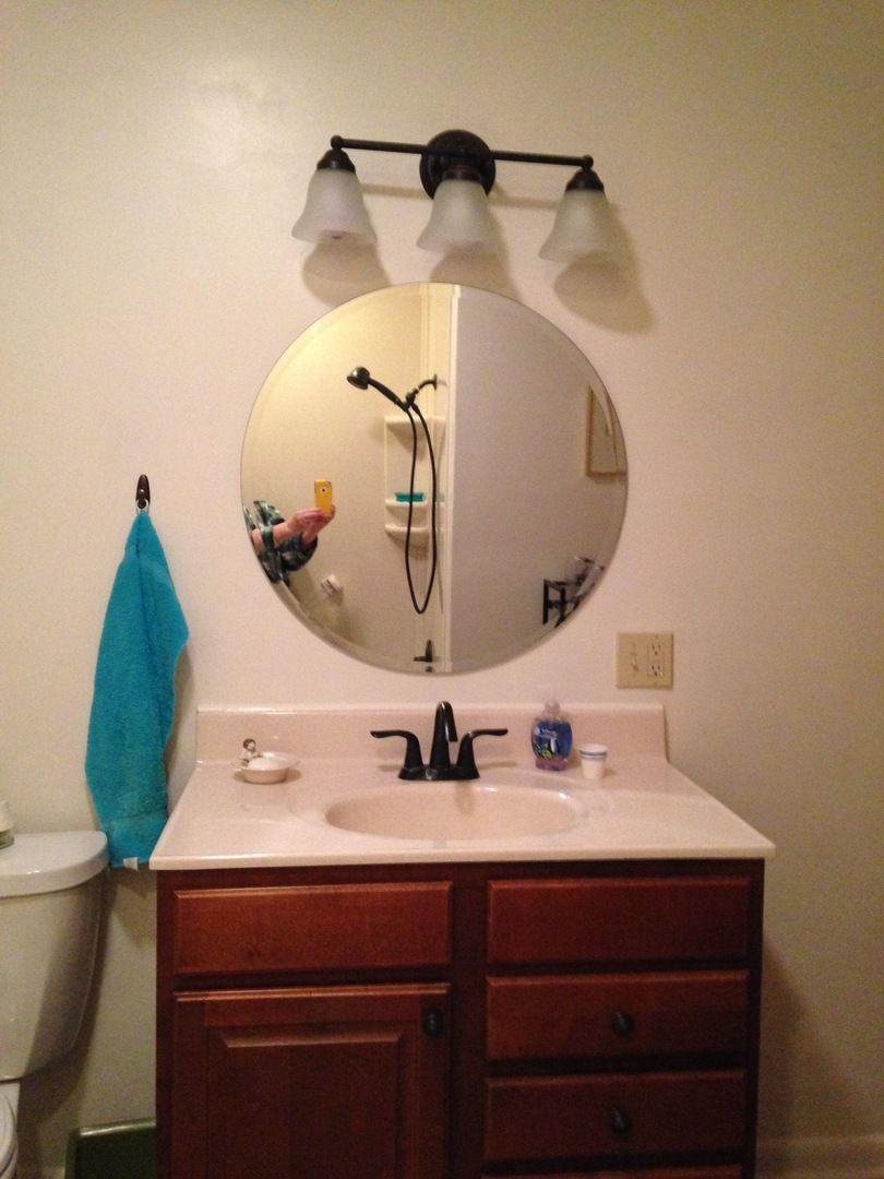 30 Round Shape Frame Less Mirror Large Round Mirror Round Wall Mirror Round Mirror Bathroom