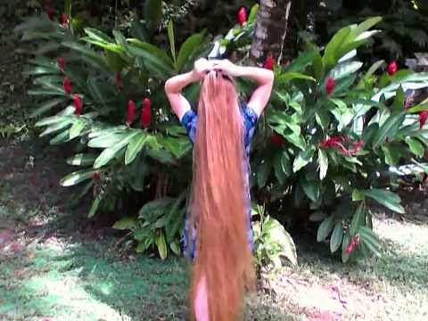 4-Strand French Braid for Super Long Hair~ braiding my ...