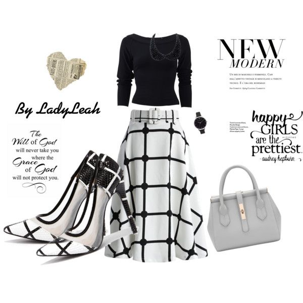 bfce6d3a82b8 Chicwish Sway the Plaids Belted Midi Skirt in White with Grid Strides Black  and White Pointed