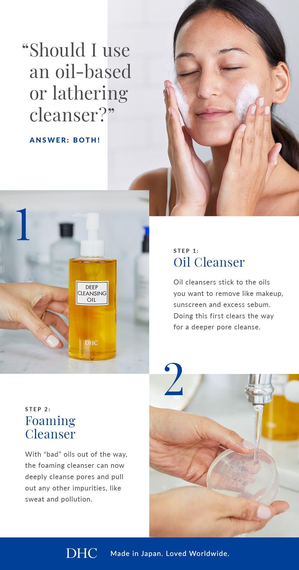 The Double Cleanse Ritual Foam Cleanser Oil Based Cleanser Oil Cleanser