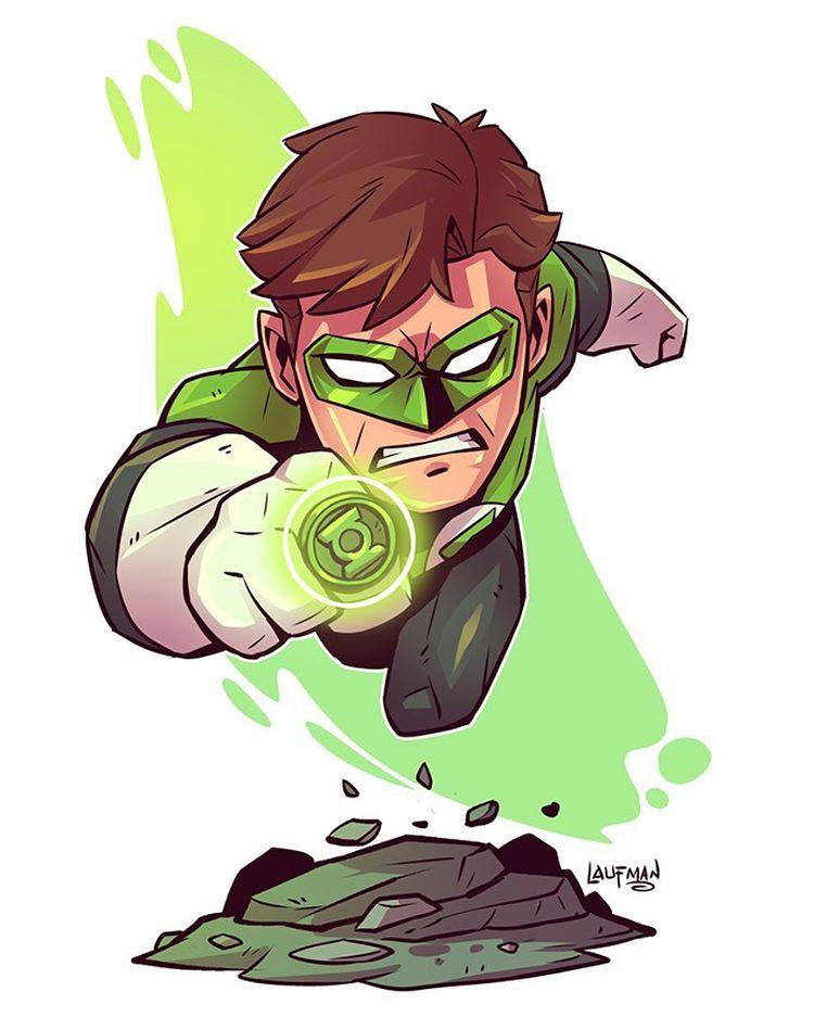 Chibi Green Lantern Derek Laufman Desenho Herois Desenhos De Super Herois