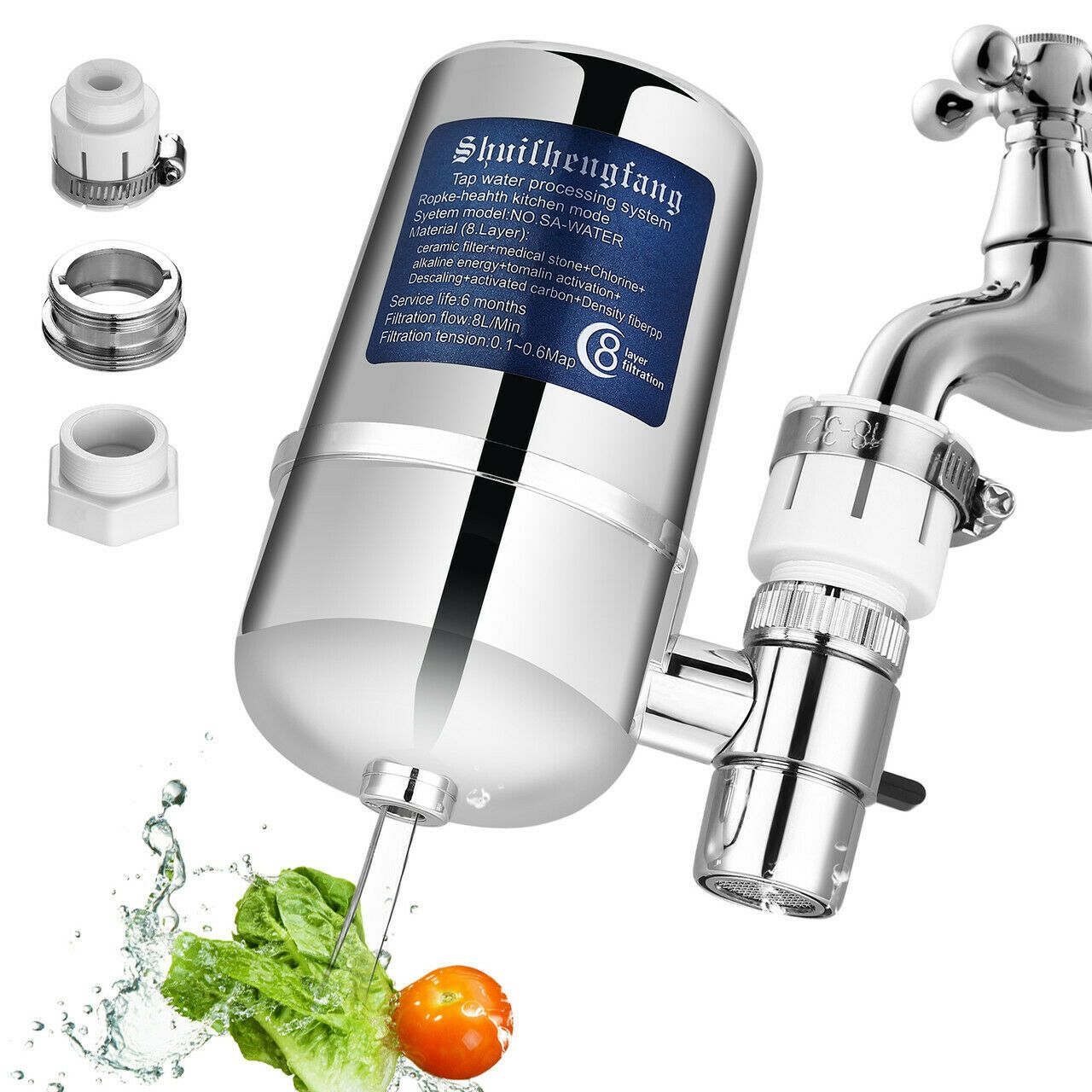 Details about 8layer Tap Faucet Water Filter System