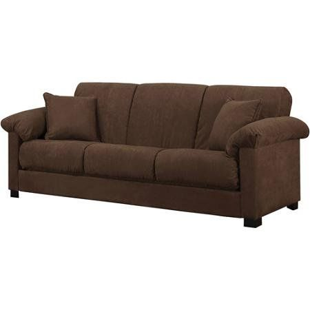Montero Microfiber Convertacouch Sofa Bed Dark Brown Visit The
