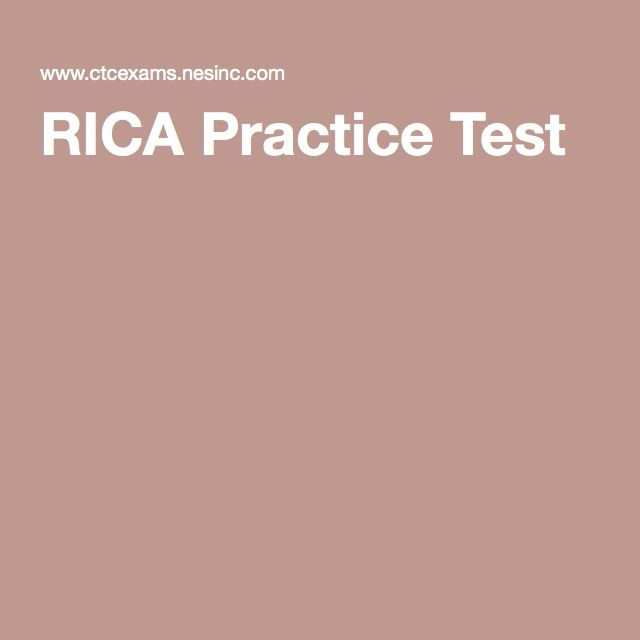 RICA Practice Test | RICA Exam | Pinterest