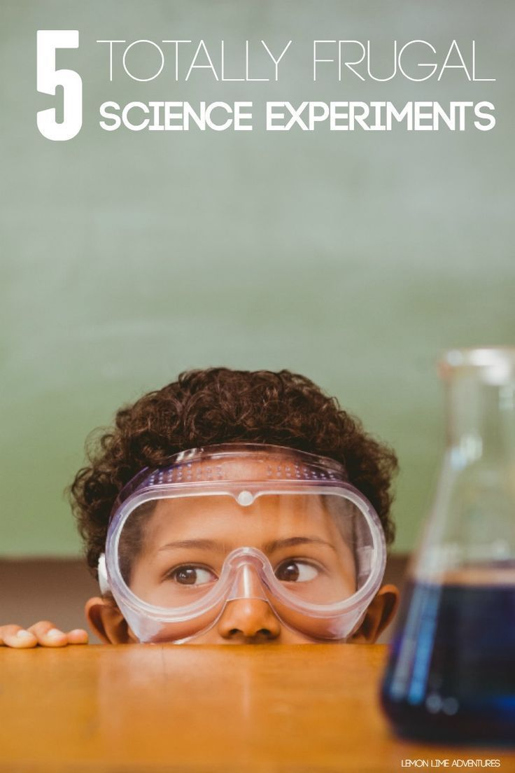5 Totally frugal Science Experiments for Kids http://lemonlimeadventures.com/5-completely-frugal-science-experiments/
