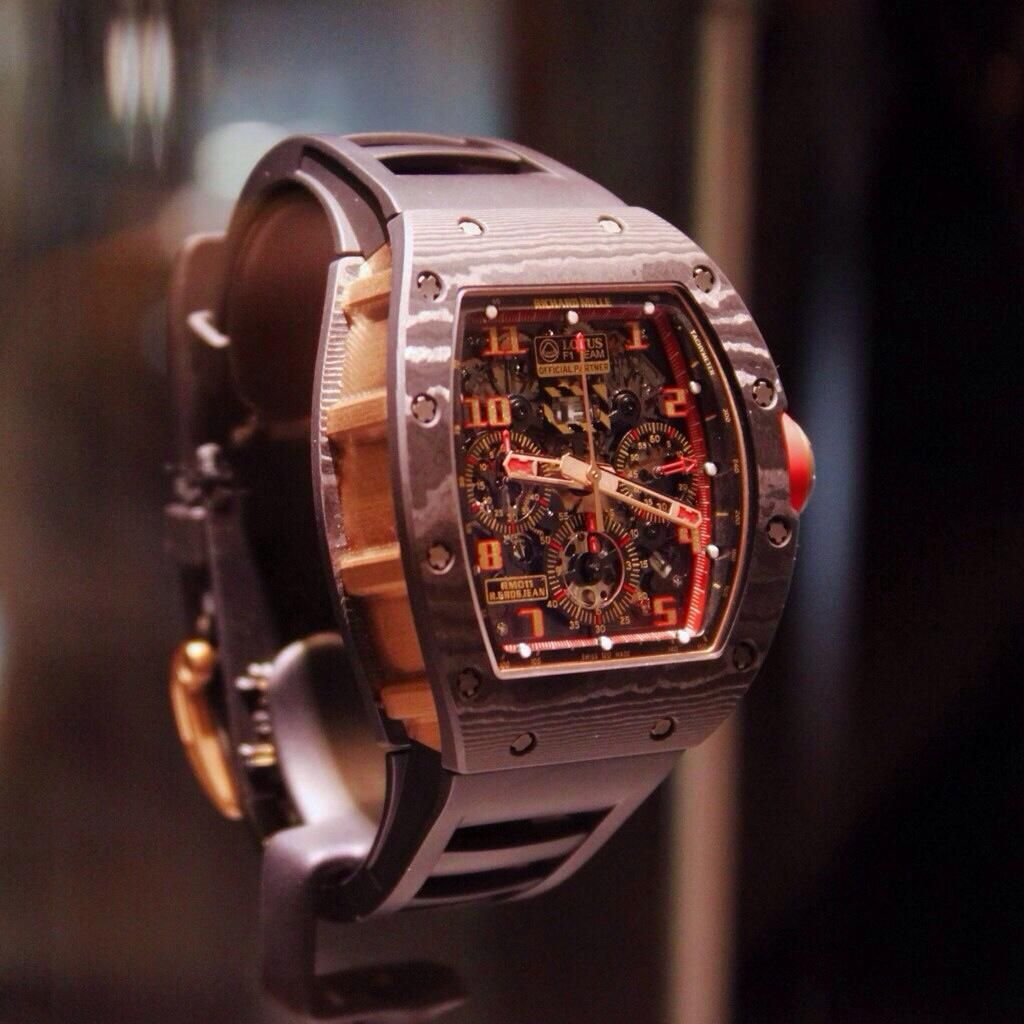 As well engineered as the F1 car he drives, check out the Richard Mille and Romain Grosjean RM-11.