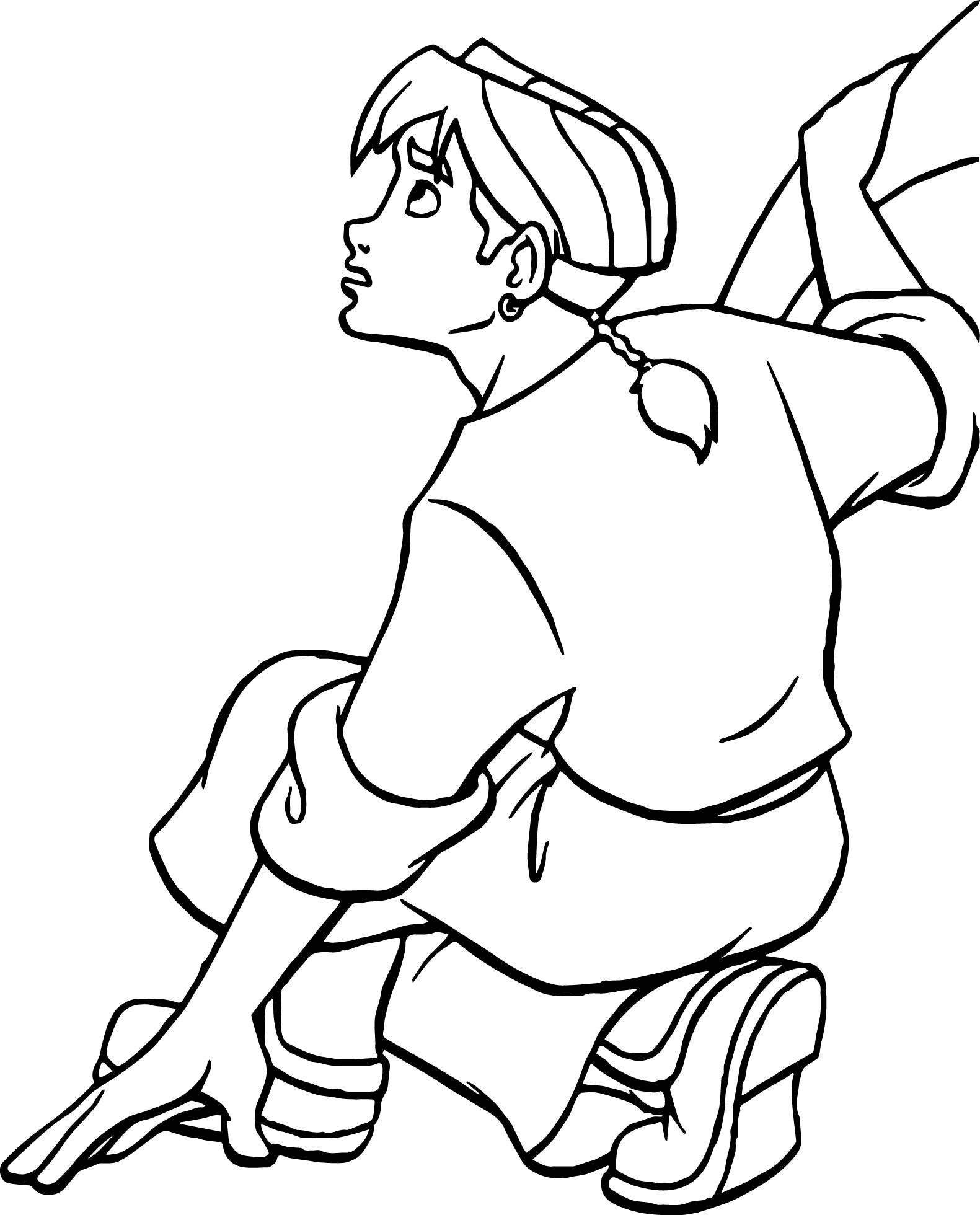 awesome Treasure Planet Jim Boy Waiting Coloring Pages